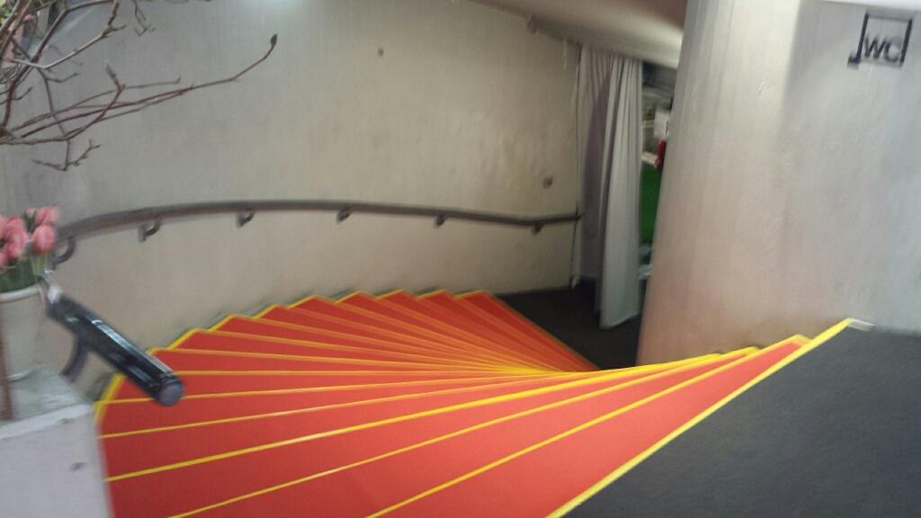 Abgang zur Messehalle 1 in Weinfelden - Sicherheit für Besucher und Mitarbeiter?