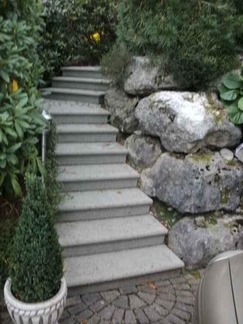 Rechts die Steine, links die Pfanzen, wo die Sicherheit?